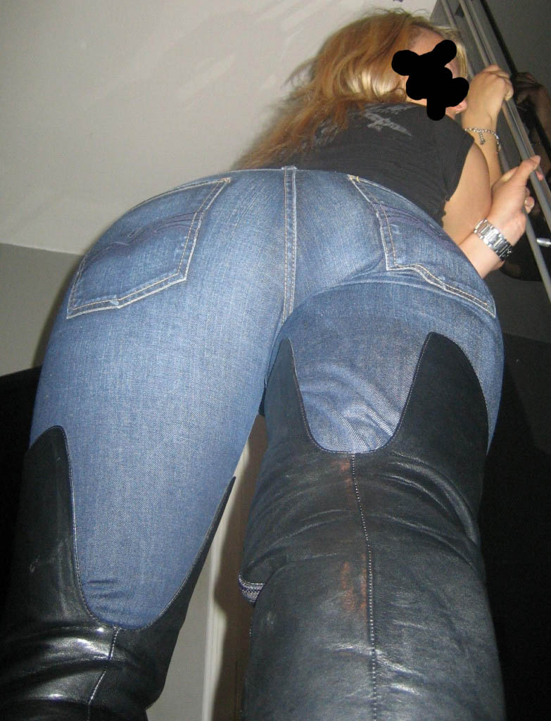 Vill du klämma på min jeansrumpa?